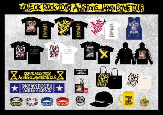 ONE OK ROCK 2018 AMBITIONS JAPAN DOME TOUR GOODS 先行通信販売実施のお知らせ